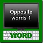 Vocabulary Building 1: Opposite Words